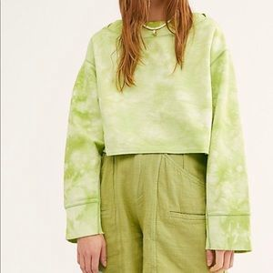 Free People Playa Pullover Green Small